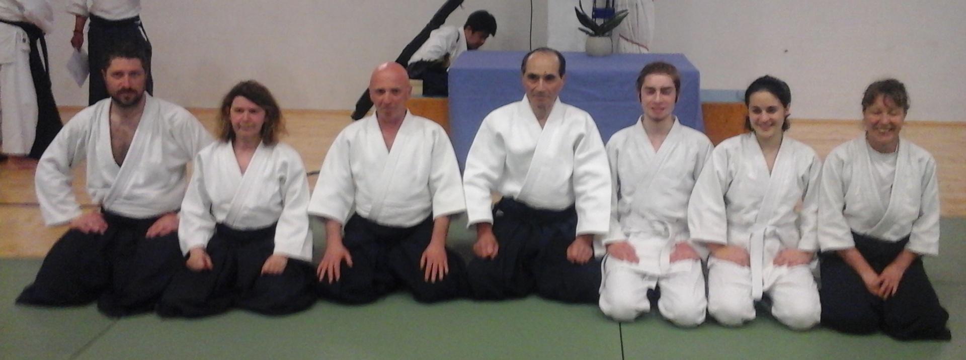 Hiroshi Tada Shihan con il Maestro Carlo Raineri ed i suoi allievi<br><br>